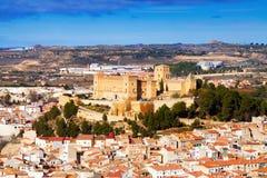 View of  Castle of Alcaniz. In winter.  Aragon Stock Image