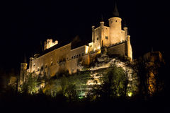 View of Castle Alcazar of Segovia in Castille and Leon, Spain Royalty Free Stock Image
