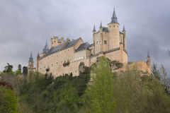 View of Castle Alcazar of Segovia in Castille and Leon, Spain Stock Photo