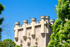 View on Castle Alcazar of Segovia, Spain Stock Photography