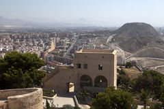 View from castle in Alicante. Spain Stock Images