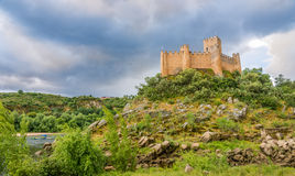 View at the Castle of Almourol in Portugal royalty free stock image