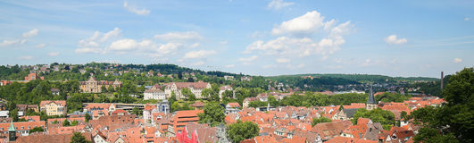 Tubingen, Baden-Wurttemberg, Germany. View from the Castle on the Altstadt or historical center of Tubingen, Baden Wurttemberg, Germany stock photography