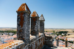 View from the Castle of Beja in Portugal Stock Photos