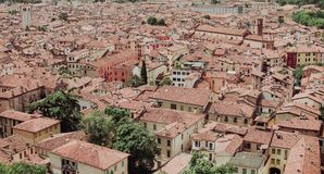 View from the castle Brescia Citadela on old town Royalty Free Stock Image