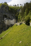 View of a castle built in the cliff Royalty Free Stock Photos