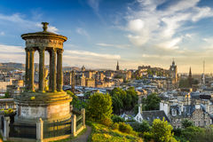 View of the castle from Calton Hill Stock Images