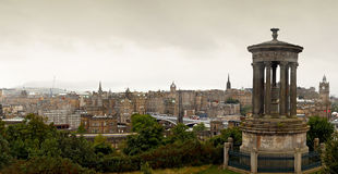View of the castle from Calton Hill Royalty Free Stock Photography