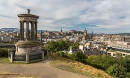 View of the castle from Calton Hill Stock Photo