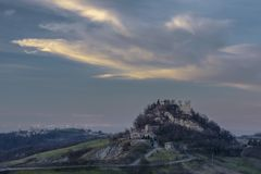 View of the castle of Canossa Royalty Free Stock Images