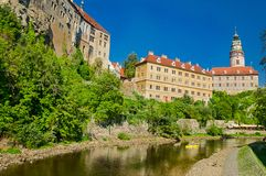 View on Castle in Cesky Krumlov Stock Images