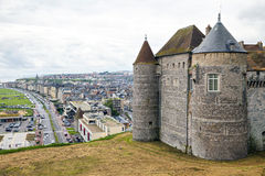 View on the castle and city Dieppe Stock Photo