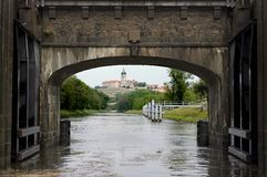 View on Castle In City of Melnik (Sluice gate) Royalty Free Stock Photography