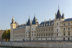 View of the castle of the Conciergerie in Paris Stock Image