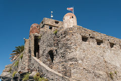 View of Castle Dragone in Camogli, Italy. Royalty Free Stock Images