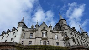 Looking up at Castle Dunrobin Stock Images