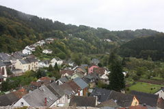 View from Castle in the eifel Royalty Free Stock Photo