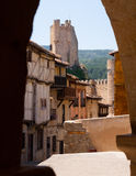 View of Castle of  Frias.  Province of Burgos Stock Images