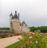 View of the castle and gardens Royalty Free Stock Images