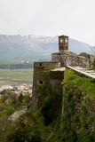 View from the castle of Gjirokaster. View over the mountains from the kastle of Gjirokaster, Albania Royalty Free Stock Photos