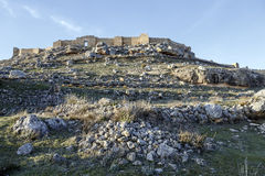 View of Castle of Gormaz in Soria, Spain. Burgo de Osma royalty free stock photography