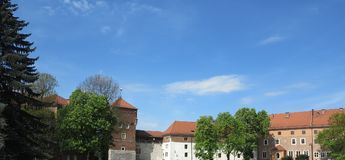 View of the castle grounds Stock Image