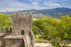 View from the castle of Guimaraes. In Portugal royalty free stock photography