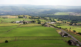 View from Castle Hil  Huddersfield Fields Stock Photography