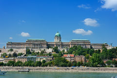 View of Castle Hill across the Danube Budapest Stock Photos