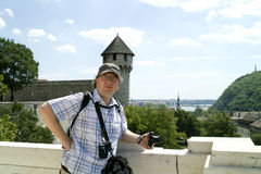 View from Castle Hill in Budapest. Stock Photo