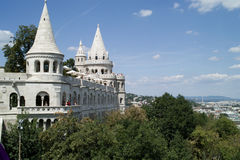 View from Castle Hill in Budapest. Royalty Free Stock Photo