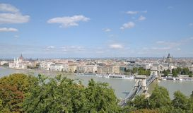 View from Castle Hill,Budapest,Hungary Royalty Free Stock Photo