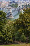 View from Castle Hill in Budapest Royalty Free Stock Images