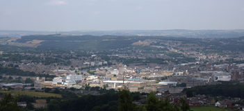 View from Castle Hill Huddersfield 3. View from Castle Hill Tower car park looking over Huddersfield Royalty Free Stock Photography
