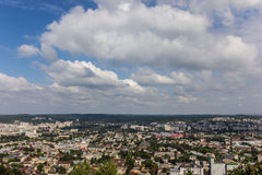 View from castle hill over Lviv Stock Photography