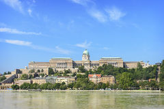 View on Castle Hill from Pest.  Budapest. Hunga Royalty Free Stock Photo