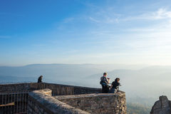 View from the castle Hohenbaden in Baden-Baden Stock Photo