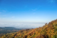 View from the castle Hohenbaden in Baden-Baden Royalty Free Stock Photos