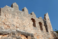 View of Castle in Kalekoy, Kekova. Stock Photo