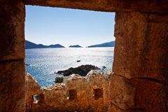 A view from the castle, Kalekoy (Simena), Antalya Royalty Free Stock Image