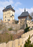 View of the castle Karlstejn Royalty Free Stock Photos