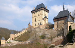 View of the castle Karlstejn Royalty Free Stock Photography