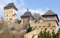 View of the castle Karlstejn Stock Photography