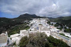 View from a castle in Kithira island Stock Photos
