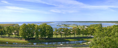 View from the castle of Kuressaare Royalty Free Stock Images
