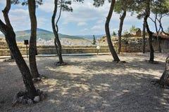 View of castle of Lamia City, Central Greece Stock Photos