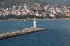 The view from the castle on the Ligthouse. Alanya, Royalty Free Stock Photo