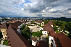 View from Castle of Lubiana Stock Photography