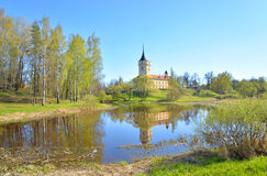 View of the Castle Mariental. View of the Castle Mariental the residence of emperor Paul I in Pavlovsk on the outskirts of St. Petersburg, Russia Royalty Free Stock Photos