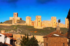 View of Castle of  Molina de Aragon Stock Photos